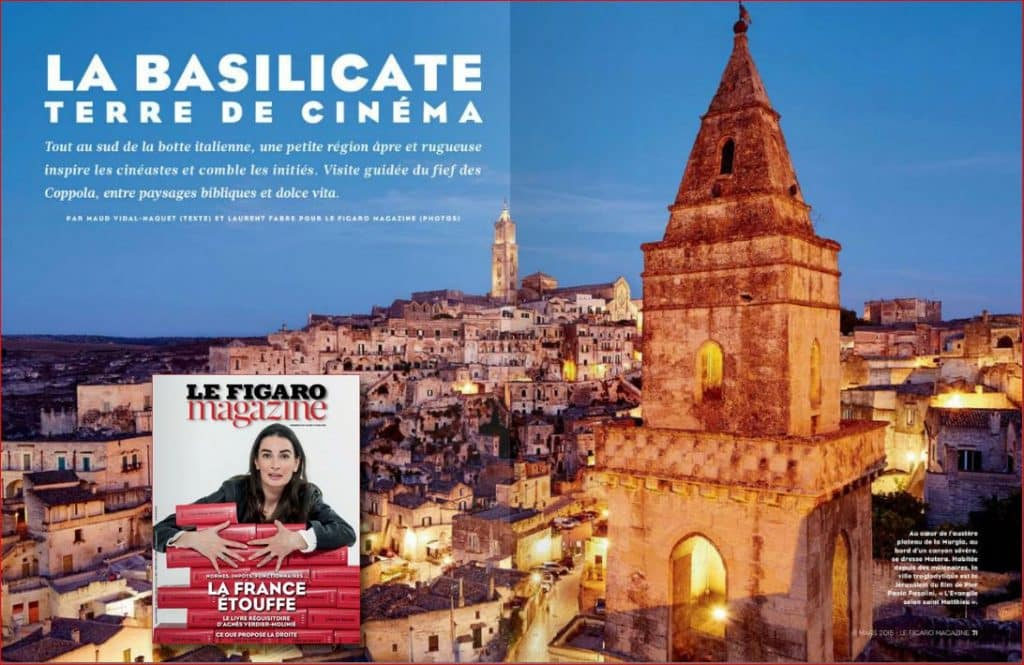 Articolo dedicato alla Basilicata pubblicato sul Le Figaro