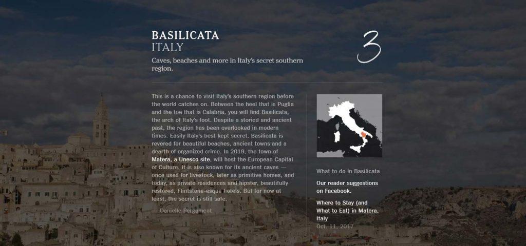 the new york times basilicata