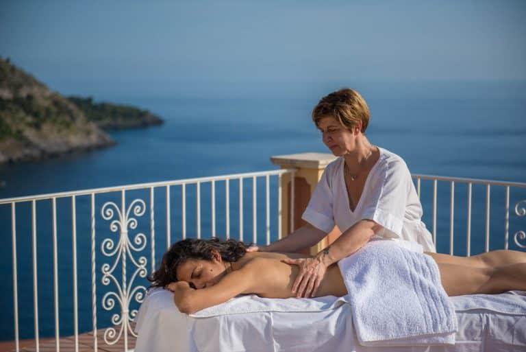 massaggio con vista mare