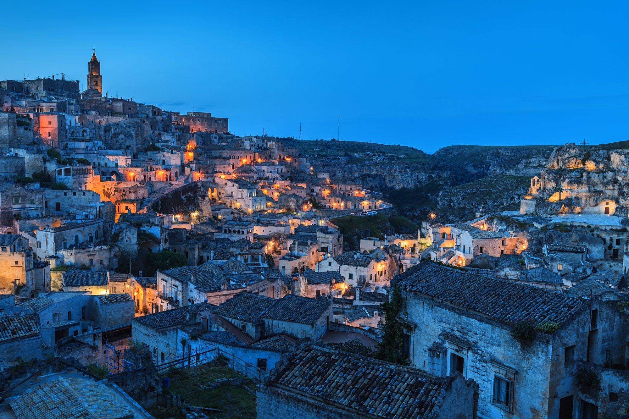 sassi of matera at night2